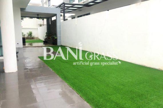 Pemasangan rumput tiruan (artificial grass) di Bangi Negeri Sembilan