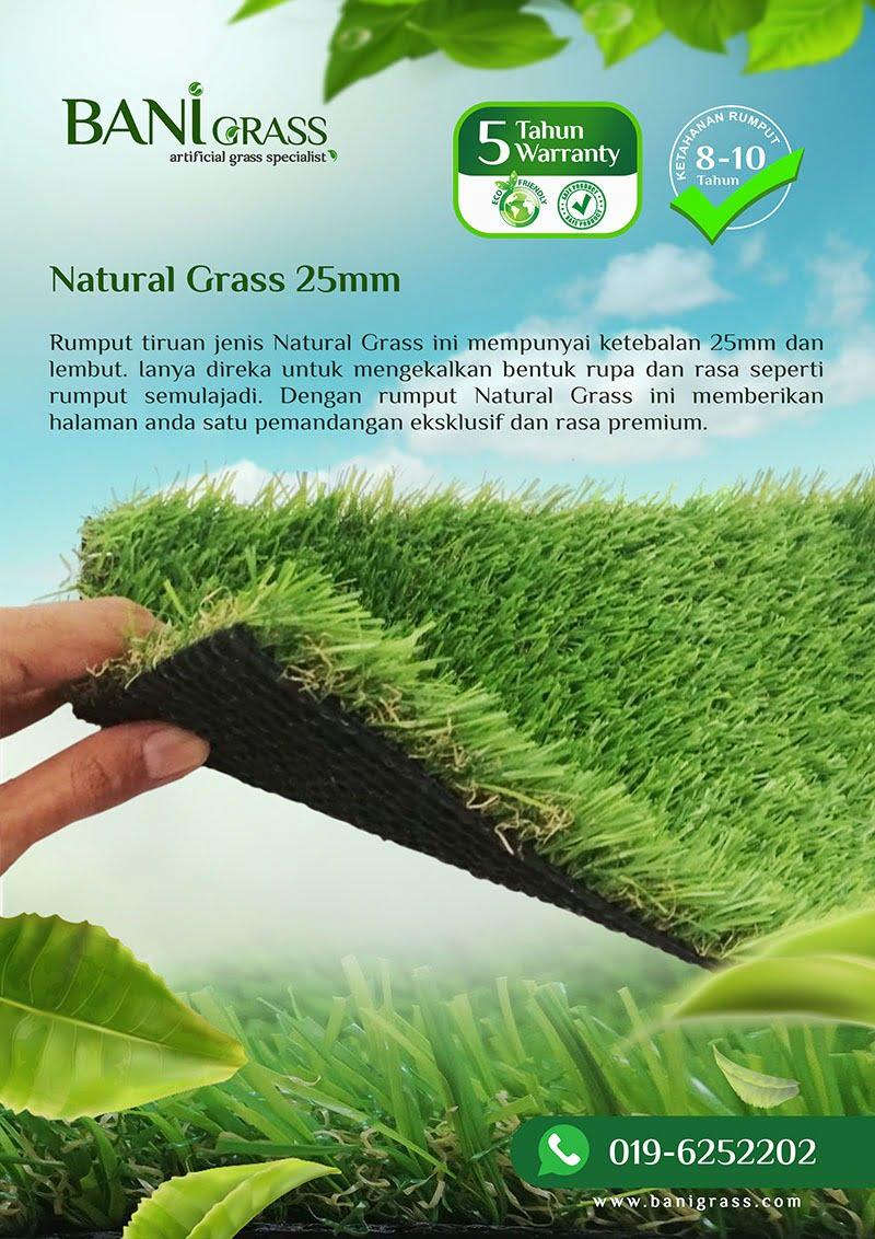natural grass 25 mm