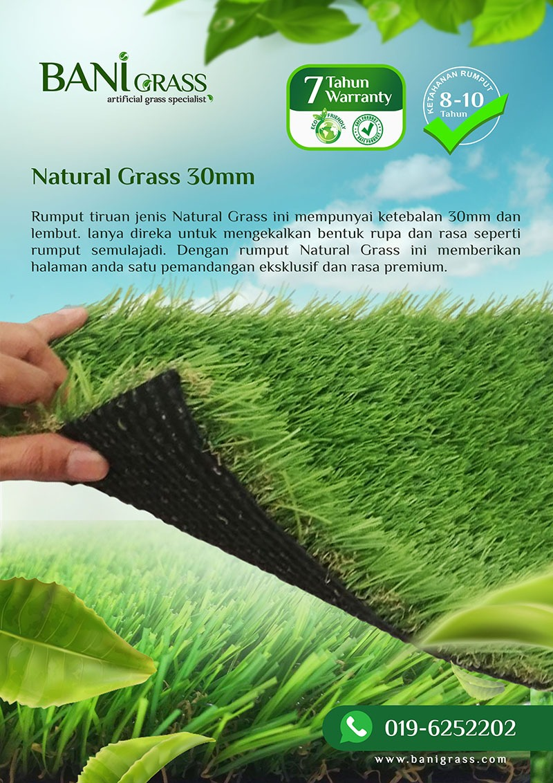natural grass 30 mm