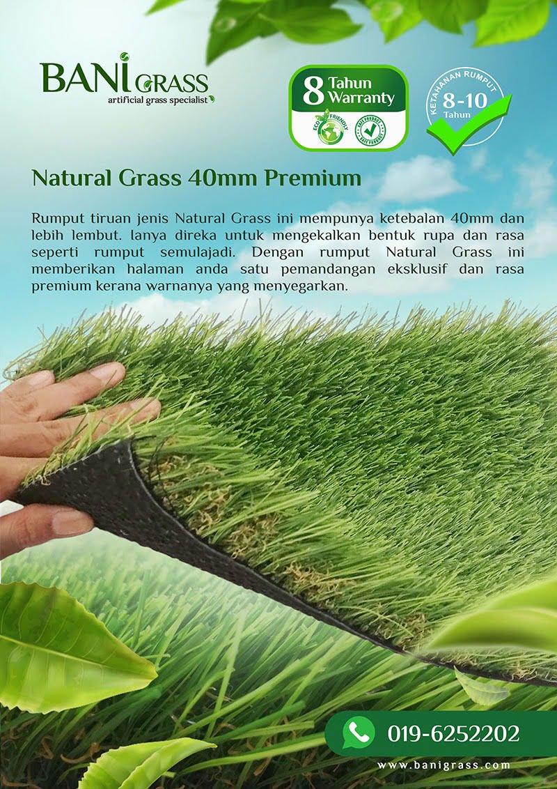 natural grass 40 mm premium