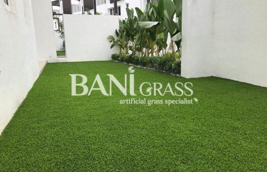 Pemasangan rumput tiruan (artificial grass) di Persint 14 Putrajaya